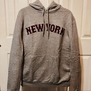 H&M Divided Blue hoodie with New York logo